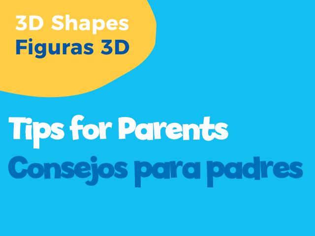 3D Shapes Math tips for parents