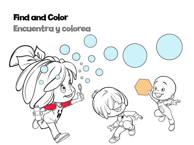 Find and Color play sheet