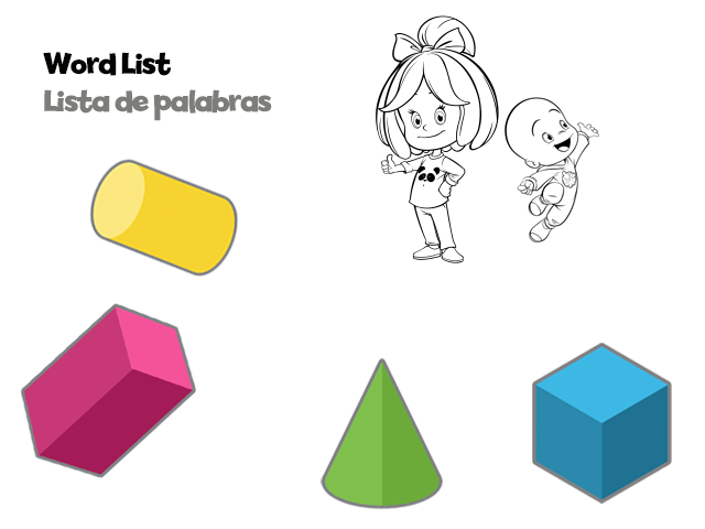 3D Shapes word list