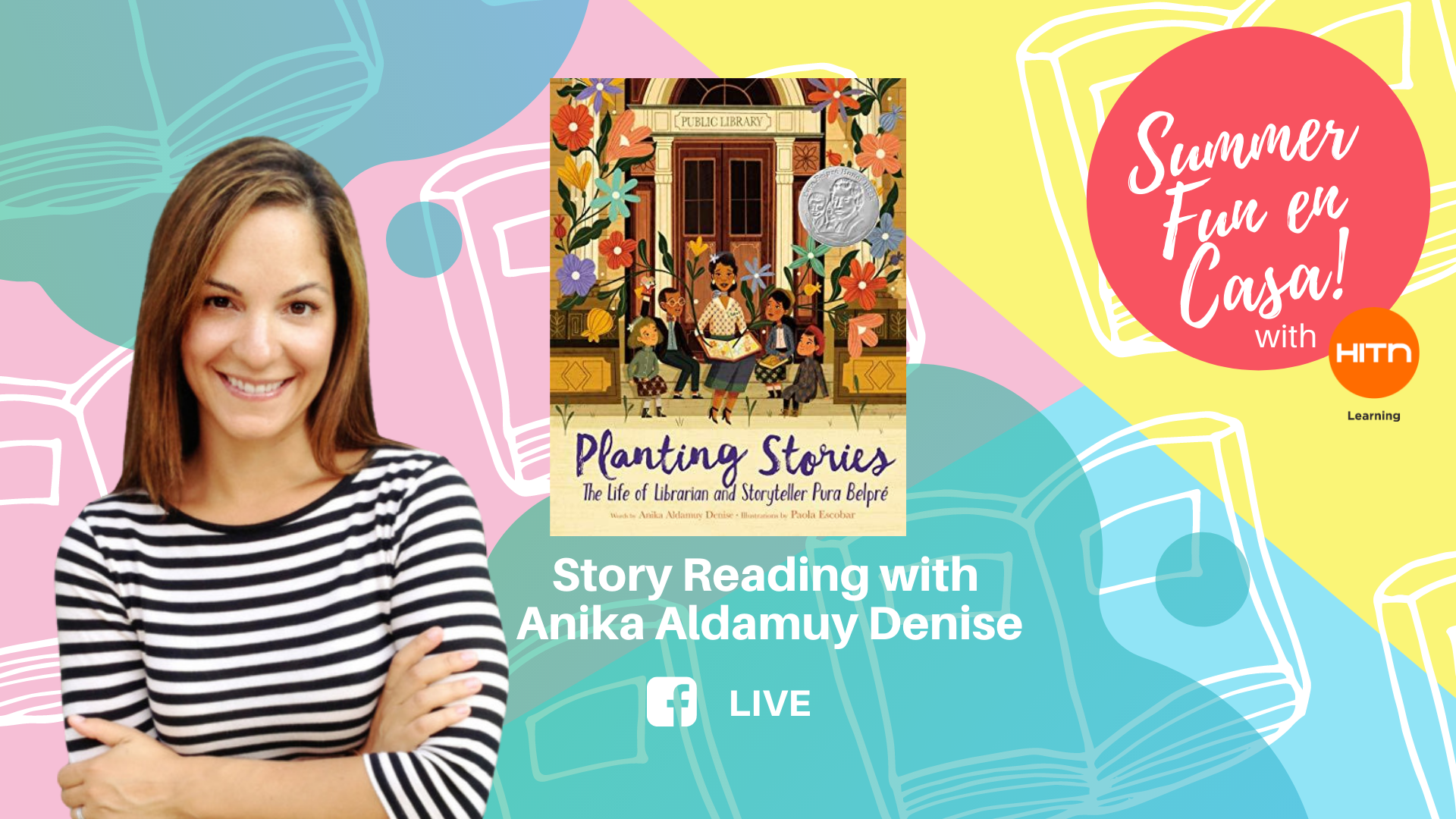"""Book Reading: """"Planting Stories: The Life of Librarian and Storyteller Pura Belpré"""" with author Anika Aldamuy Denise"""